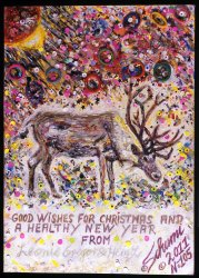 Click to a larger version of No 105 Reindeer Christmas Card