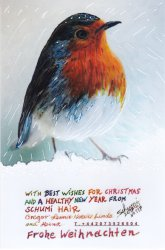 Click to a larger version of No. 117 Christmas Robin